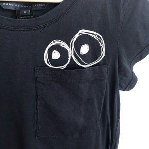 Marc By Marc Jacobs Tops - Marc Jacobs Black Eye Circle Pocket Shirt S